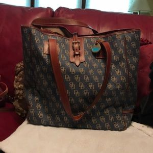 Vintage ExLarge Dooney & Bourke Denim Tote
